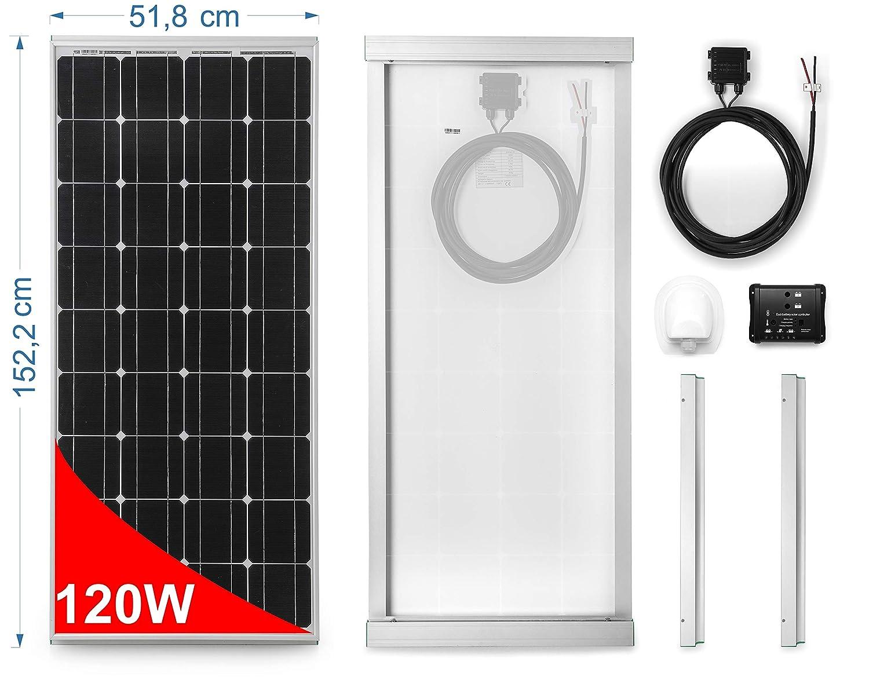 Panel Solar 120W para Autocaravana - Kit Completo: Amazon.es ...