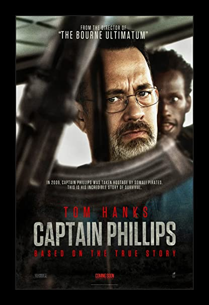 Amazon.com: Captain Phillips - 11x17 Framed Movie Poster by ...
