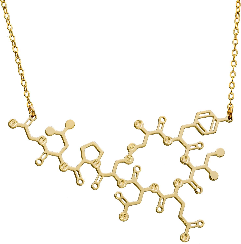 Female Hormone Biology Gifts Science Jewelry Silver or Gold Estrogen Molecule Earrings Molecule Jewelry Geek Gifts