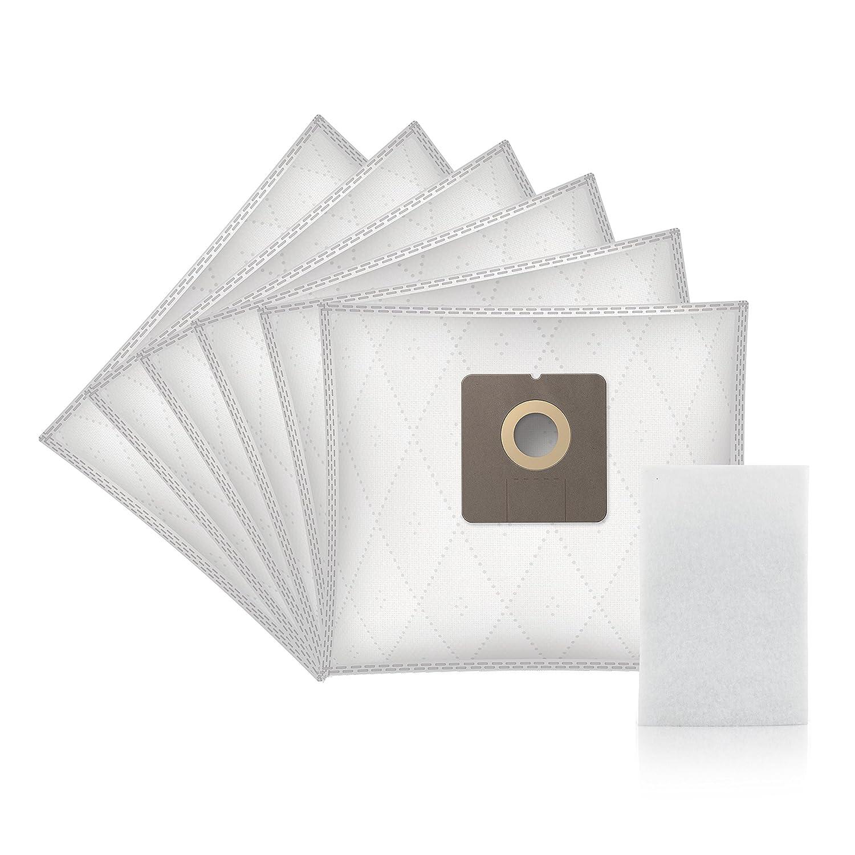 6 piezas, sint/éticas ✧WESSPER/® Bolsas de aspiradora para Fagor VCE 303