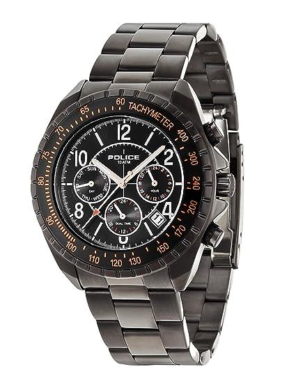 Police 14343JSUB/02M - Reloj de pulsera hombre, acero inoxidable chapado, color negro