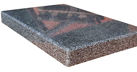 MW Naturstein Piedra de Granito Barbacoa Rectangular para el Cuadrada Barbacoa - 30 x 20 x 3 cm: Amazon.es: Jardín