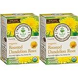 Traditional Medicinals Organic Roasted Dandelion Root Herbal Tea 16 Tea Bags Each / Pack of 2