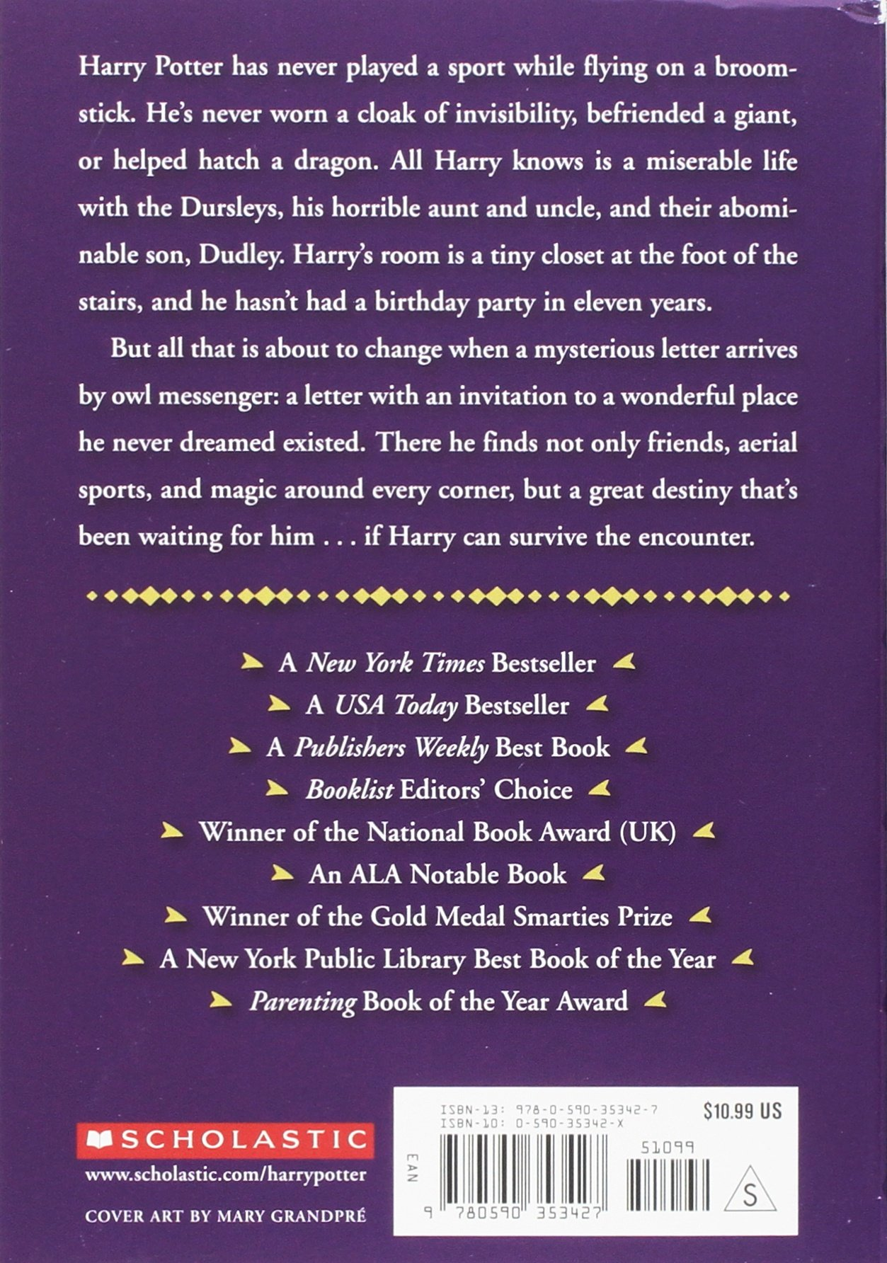 harry potter and the sorcerers stone jk rowling mary grandpr 0038332166576 amazoncom books