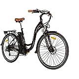 Moma Bikes Bicicleta Electrica, Urbana EBIKE-28, Alu. SHIMANO 7V & Doble Freno Disco Bat. Ion Litio 36V 16Ah