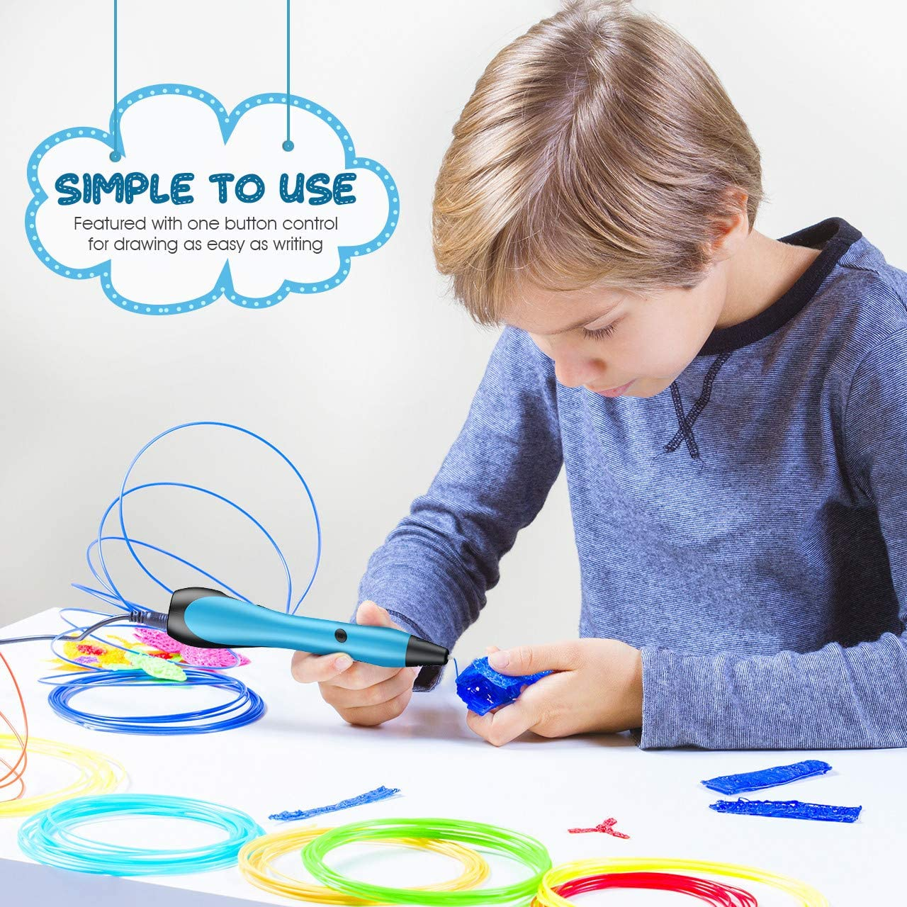 KITY 3D Drawing Printing Printer Pen for Kids Best Gifts