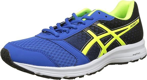 Asics Patriot 9, Zapatillas de Running para Hombre, Azul (Victoria Blue/Safety Yellow/Black 4507), 47 EU: Amazon.es: Zapatos y complementos