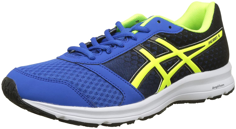 Asics Patriot 9, Zapatillas de Running para Hombre 40.5 EU|Azul (Victoria Blue / Safety Yellow / Black 4507)