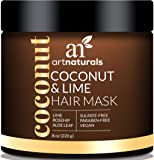 ArtNaturals Coconut and Lime Hair Mask – (8 Oz / 226g) – Replenishing Hydration – Deep Conditioner For All Hair Types – Sulfate-Free – Coconut, Lime, Aloe Vera and Rosehip