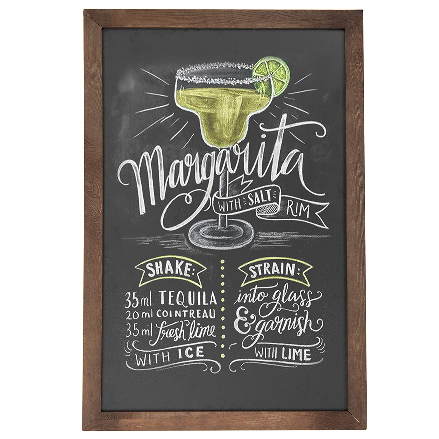 Vintage Wall Mounted Brown Wood Framed Chalkboard Sign / Retail & Cafe Menu Board - 36 x 24 MyGift