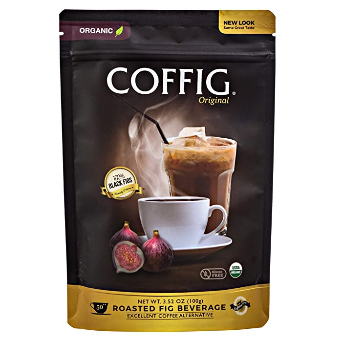 COFFIG Roasted Fig Beverage - Coffee Substitute Caffeine Free - Certified 100% Organic Decaf Fruit Energy Drink - Sugar Free - Gluten Free - Low Acid - Delicious & Highly Concentrated