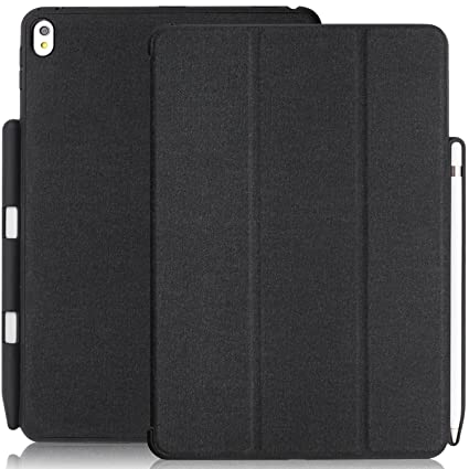 new concept c2b08 0f3bb KHOMO iPad Pro 10.5 Inch & iPad Air 3 2019 Case with Pen Holder - Dual  Charcoal Grey Super Slim Cover with Rubberized Back and Smart Feature  (Sleep & ...