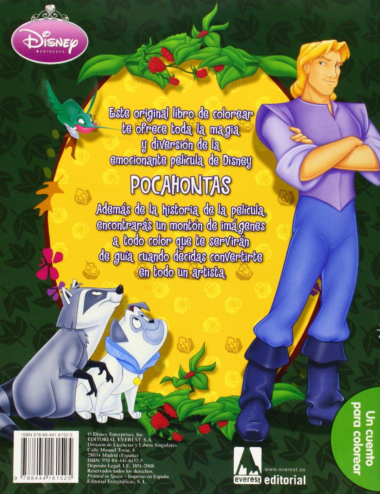 Pocahontas: un cuento para colorear: Amazon.es: Walt Disney Company, Walt Disney Company, Ramón David de, Chaves Sanz Yolanda: Libros