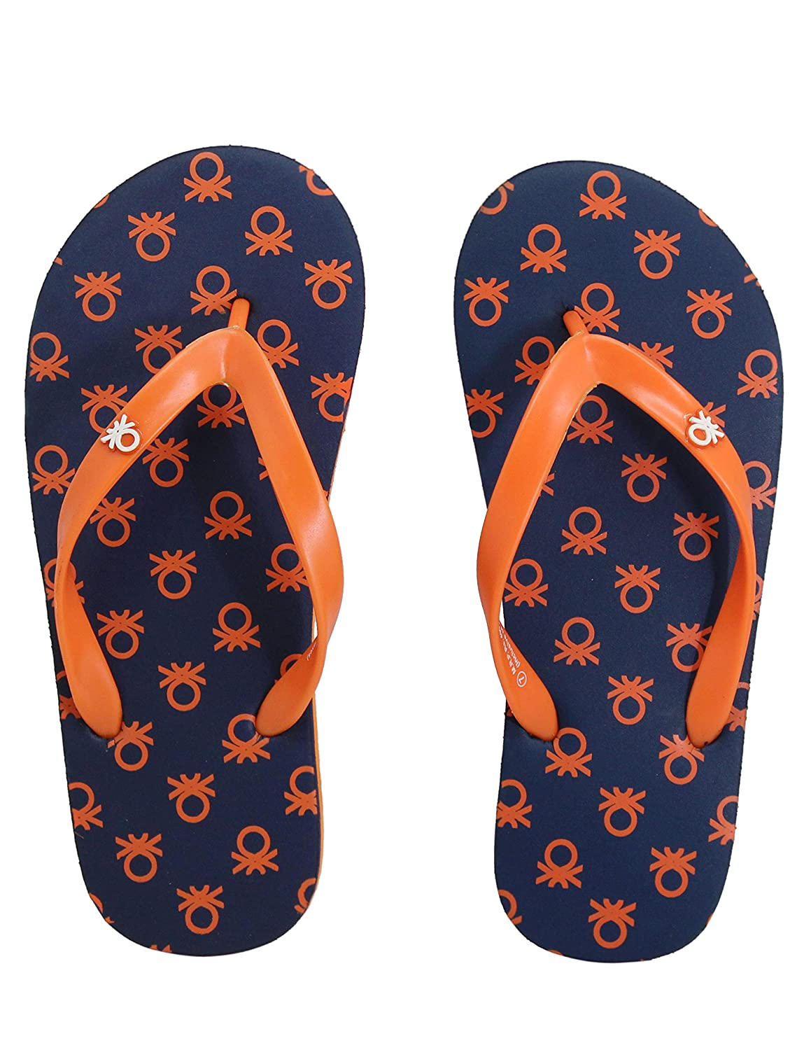 b11e271f3f3d6b United Colors Benetton Navy   Orange Flipflops for Men  Buy Online at Low  Prices in India - Amazon.in