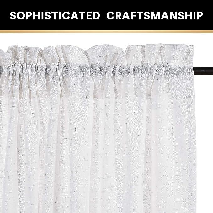 Amazon.com: Cortinas de lino natural para sala de estar ...
