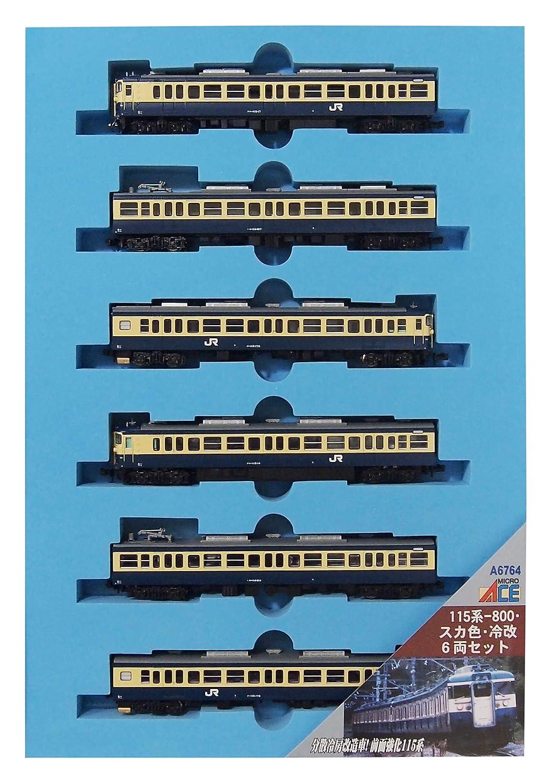 マイクロエース Nゲージ 115系-800スカ色冷改 6両セット A6764 鉄道模型 電車 B079X6YP8M