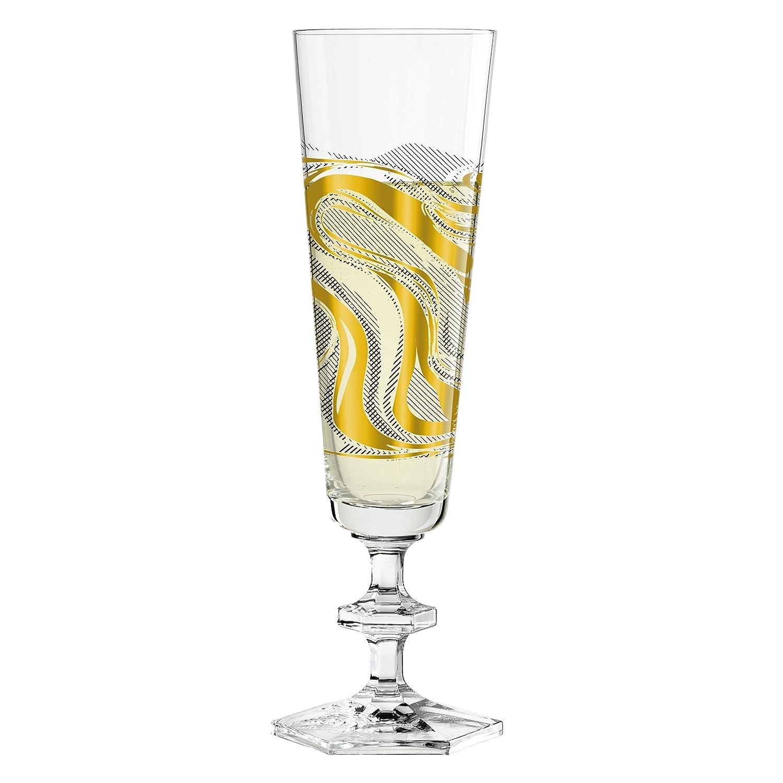 Ritzenhoff Next Champus Design Calice da Champagne, Calice da Spumante, Calice da Prossecco, in Vetro, Primavera 2017, Patricia Urquiola, 100 ml, 3520008 Ritzenhoff AG