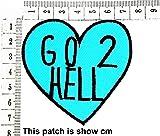 Go to Hell Biker Funny MC Club Cartoon Chidren Kids