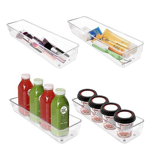 Organizador de Refrigerador (4 Pack) - 32x8x5cm Plástico Acrílico ...