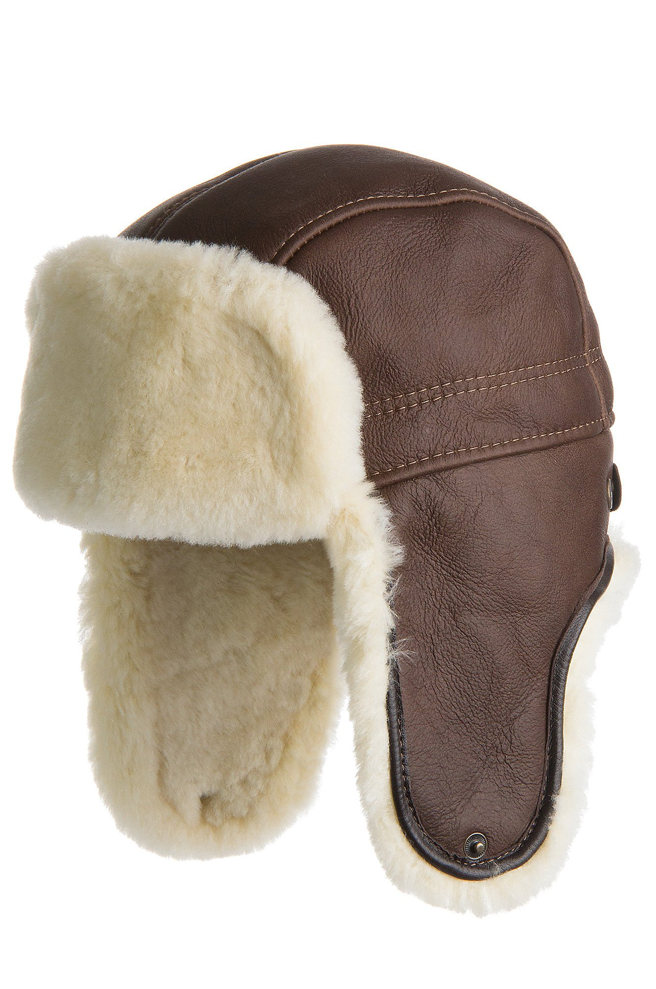 Overland Sheepskin Co Shearling Sheepskin Trapper Hat