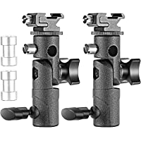 Neewer Professional Universal E Type Camera Flash Speedlite Mount Swivel Light Stand Bracket with Umbrella Holder for…