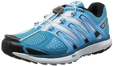 Salomon X Scream WasabiMoorea BlueFluorescent Yellow Running Shoes