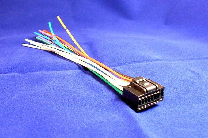 16 Pin KENWOOD KDC-HD942U / KDC-MP142 Car Stereo Wiring Harness Kenwood Car Audio Wire Harness on