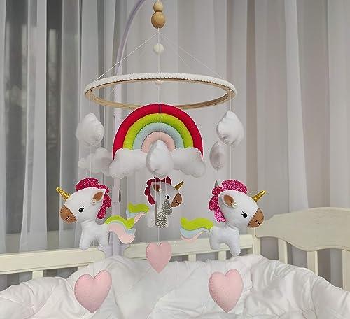 Amazon.com: Unicorn Baby Mobile, Nursery Mobile, Baby Mobile Girl, Nursery Decor, Mobile Baby, Baby Room Decor, Baby Crib Mobile: Handmade