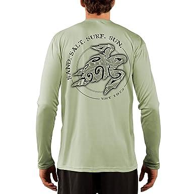 611b4d86aa1b Amazon.com: SAND.SALT.SURF.SUN. Polynesian Sea Turtle Men's UPF 50+ ...