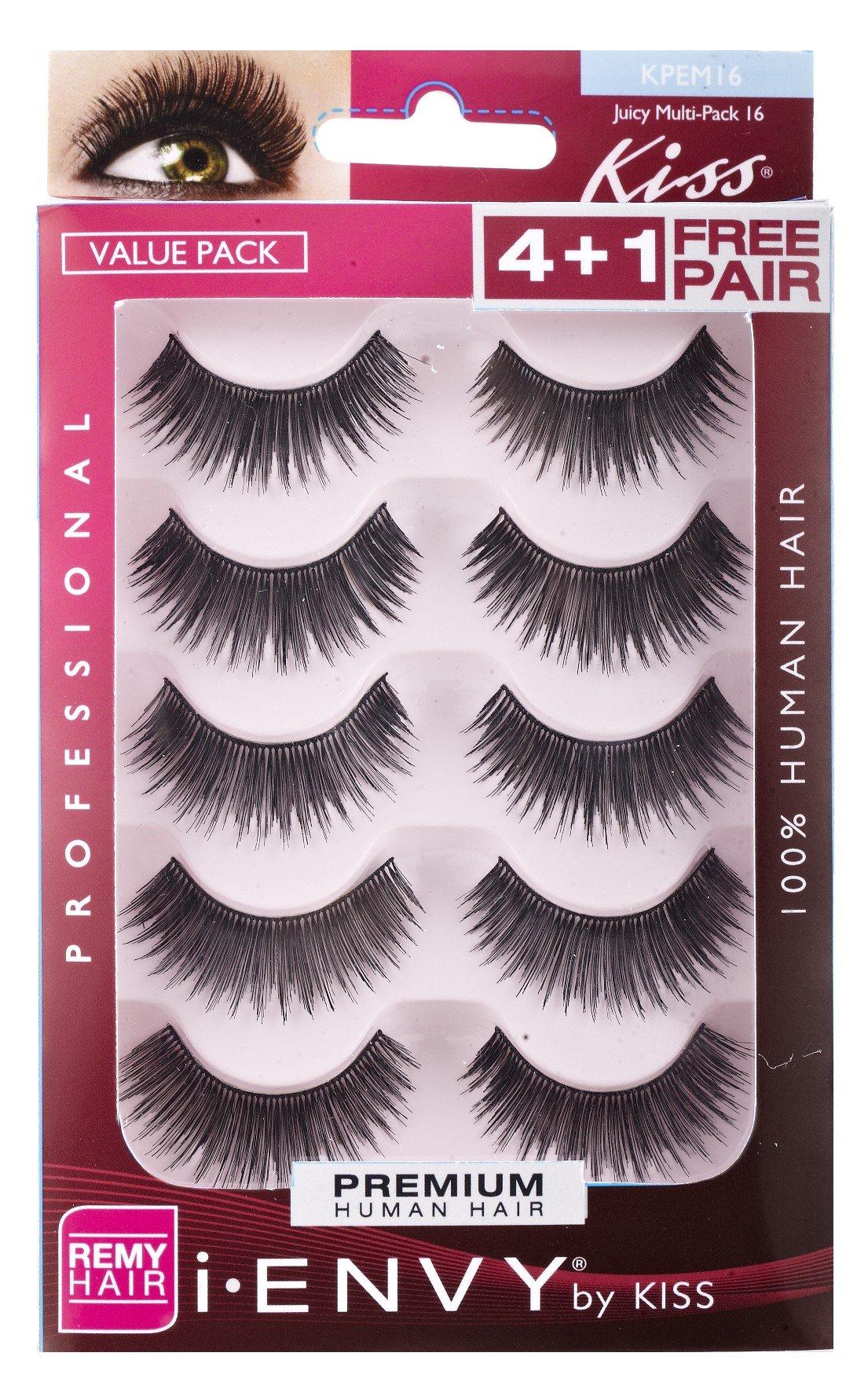 604af2d2c16 Amazon.com : i.Envy by Kiss Eye Lash Value Pack #KPEM15 : Beauty