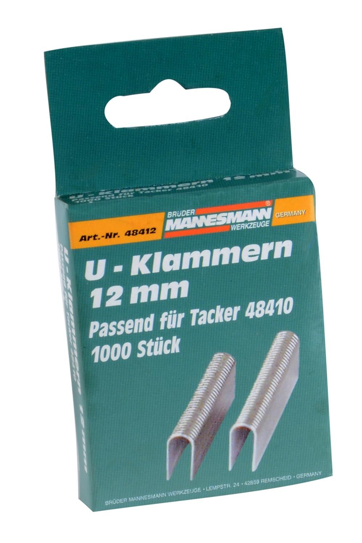 Brueder Mannesmann M48412 U-Shaped Spare Staples Brueder Mannesmann Werkzeuge