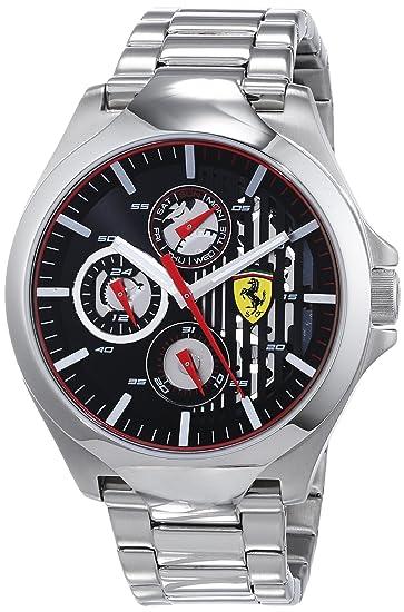 Scuderia Ferrari Reloj Multiesfera para Hombre de Cuarzo con Correa en Acero Inoxidable 830508