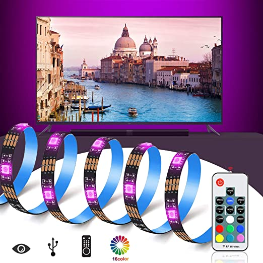 Retroiluminación del LED TV, USB Bais Lighting RGB Tira de LED con Cinta Adhesiva Térmica y