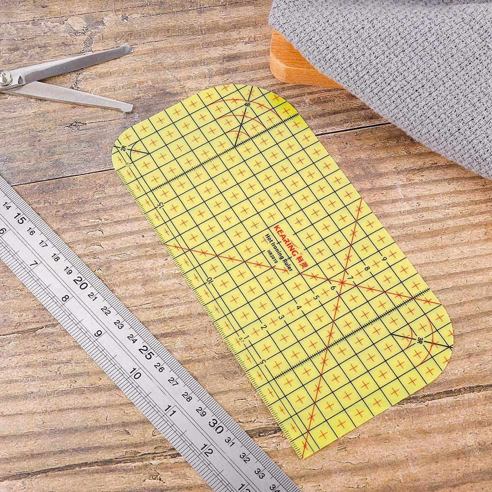 DIY Dry or Steam Ironing Fabric Heat-Resistant Ruler Patchwork Sewing Supplies Accessories Patchwork Tailor Measuring Tools for Clothing Making Provone Hot Ironing Ruler
