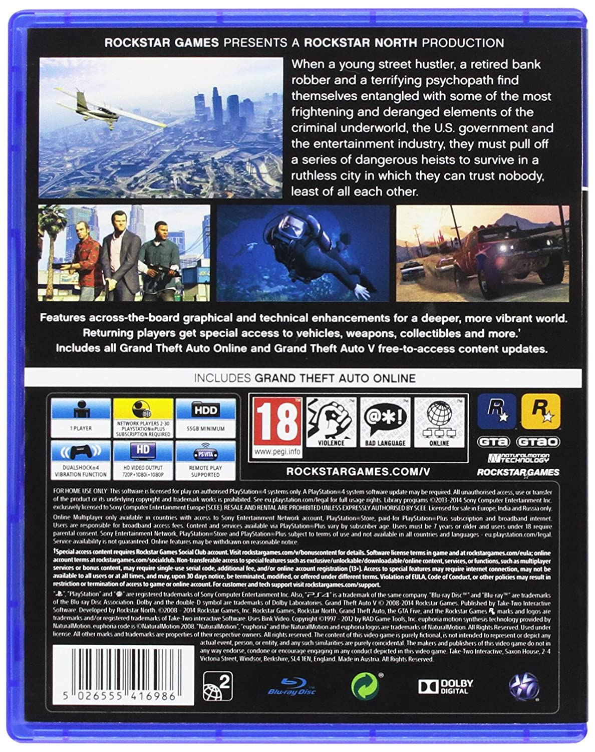 Grand Theft Auto V Importacion Inglesa Playstation 4 Amazon Es