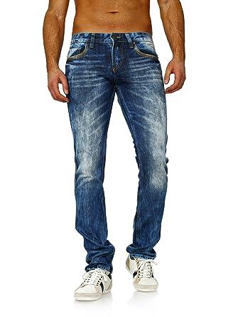 5d99f5c63bd6 Amica Herren Jeans Hose Denim straight gerade destroyed 1150 used  stonewashed blau, Grösse  W36  Amazon.de  Bekleidung