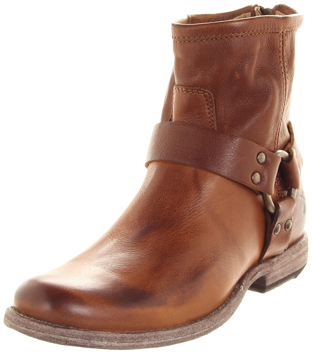 Cognac Soft Vintage Leather Frye Women's Phillip Harness Ankle Boot