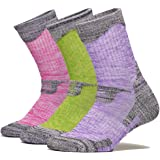 Leotruny 3pairs Women's Lightweight Cushion Hiking Camping Socks