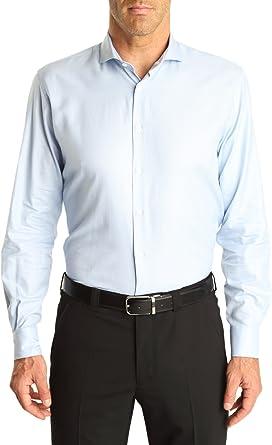 Caramelo, Camisa Regular Cro Cuello Ingles, Hombre · Azul ...