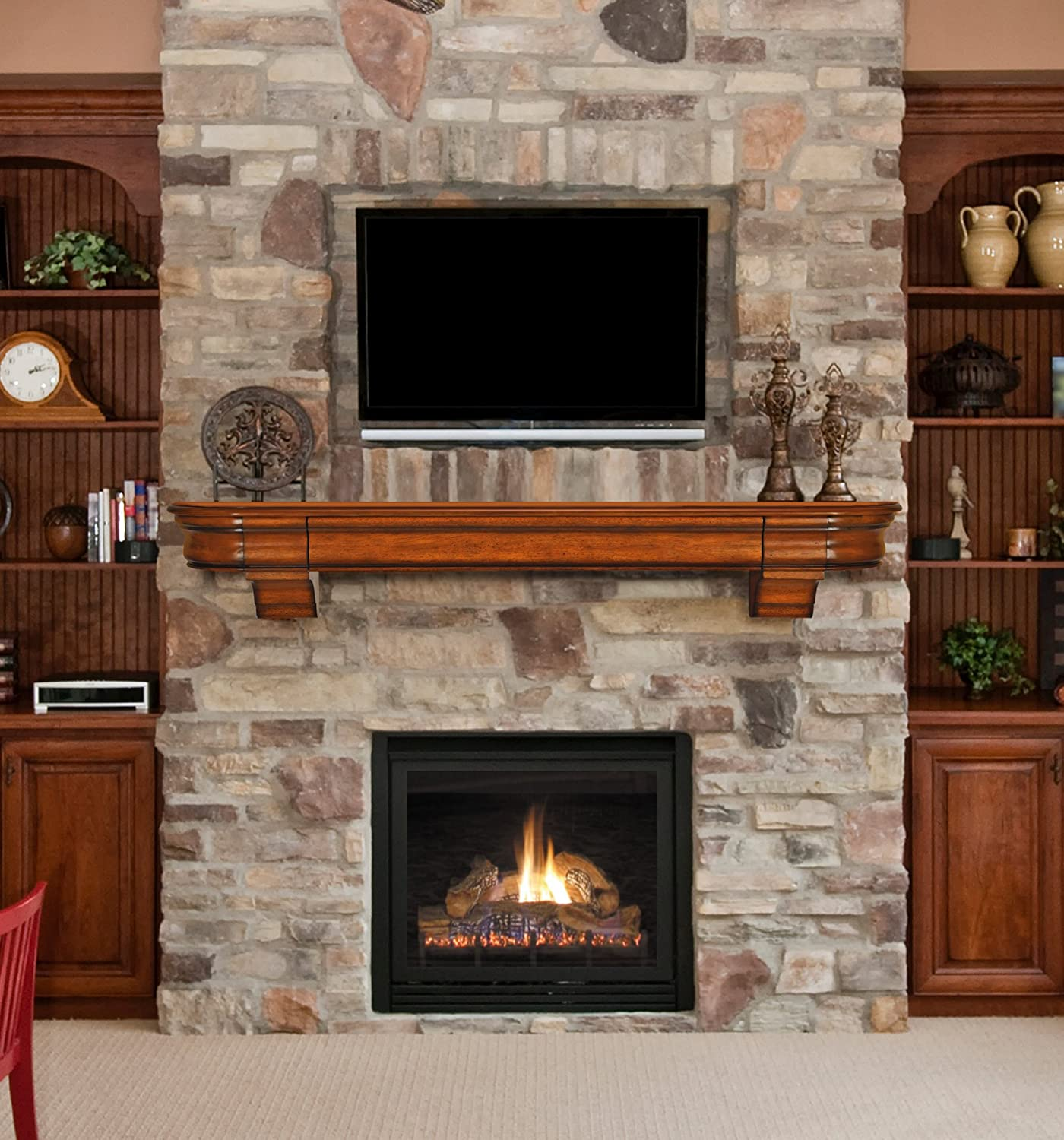 bookcase and mantel in makeover with surround weblog tiled gas fireplace woodworking svenson blog built wood trimitsis