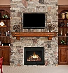 Pearl Mantels 415-72-50 Abingdon Wood 72-Inch Fireplace Mantel Shelf, Medium Distressed Oak
