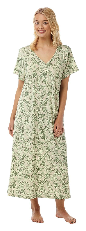 Ladies Long Plus Size Jersey Nightshirt in 5 Prints. Sizes 14-16 18-20 22-24 26-28 30-32 IN08974