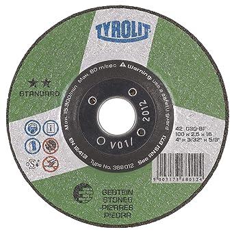 Tyrolit 367804 Standard Discos De Corte, 42, C30S-Bf, 230 X 3.0 X 22.23 Mm Dimensiones, Caja De 25: Amazon.es: Industria, empresas y ciencia