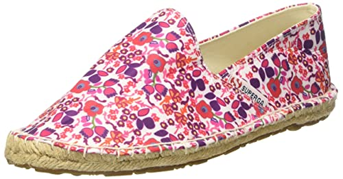 Superga 4524Fabricfanw Espadrillas Basse Donna Flowers Red 35 EU
