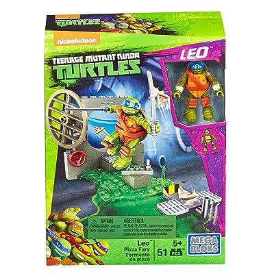 Mega Bloks Teenage Mutant Ninja Turtles Leo Pizza Fury Playset: Toys & Games