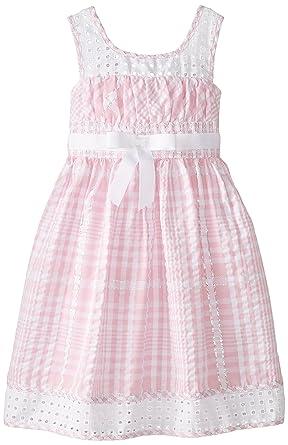 28c95172895 Amazon.com: Bonnie Jean Little Girls' Seersucker with Eyelet Waistline:  Clothing