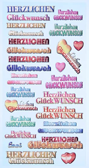 Creapop Sticker Softysticker Herzlichen Gluckwunsch Geburtstag