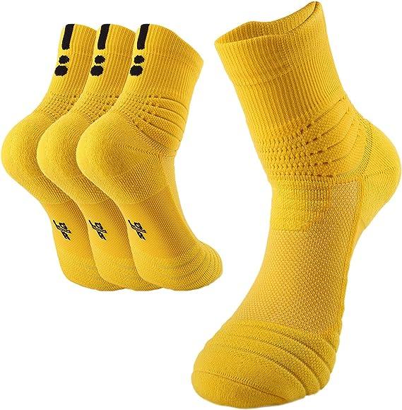 BeeViuc Calcetines baloncesto calcetines hombres de algodón ...