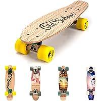 """meteor Fancy Board Vintage Mini Cruiser Complete Bois véritable Érable Canadien Skateboard Ridge Mini Skate Planche a roulettes rétro 55 cm / 22"""""""