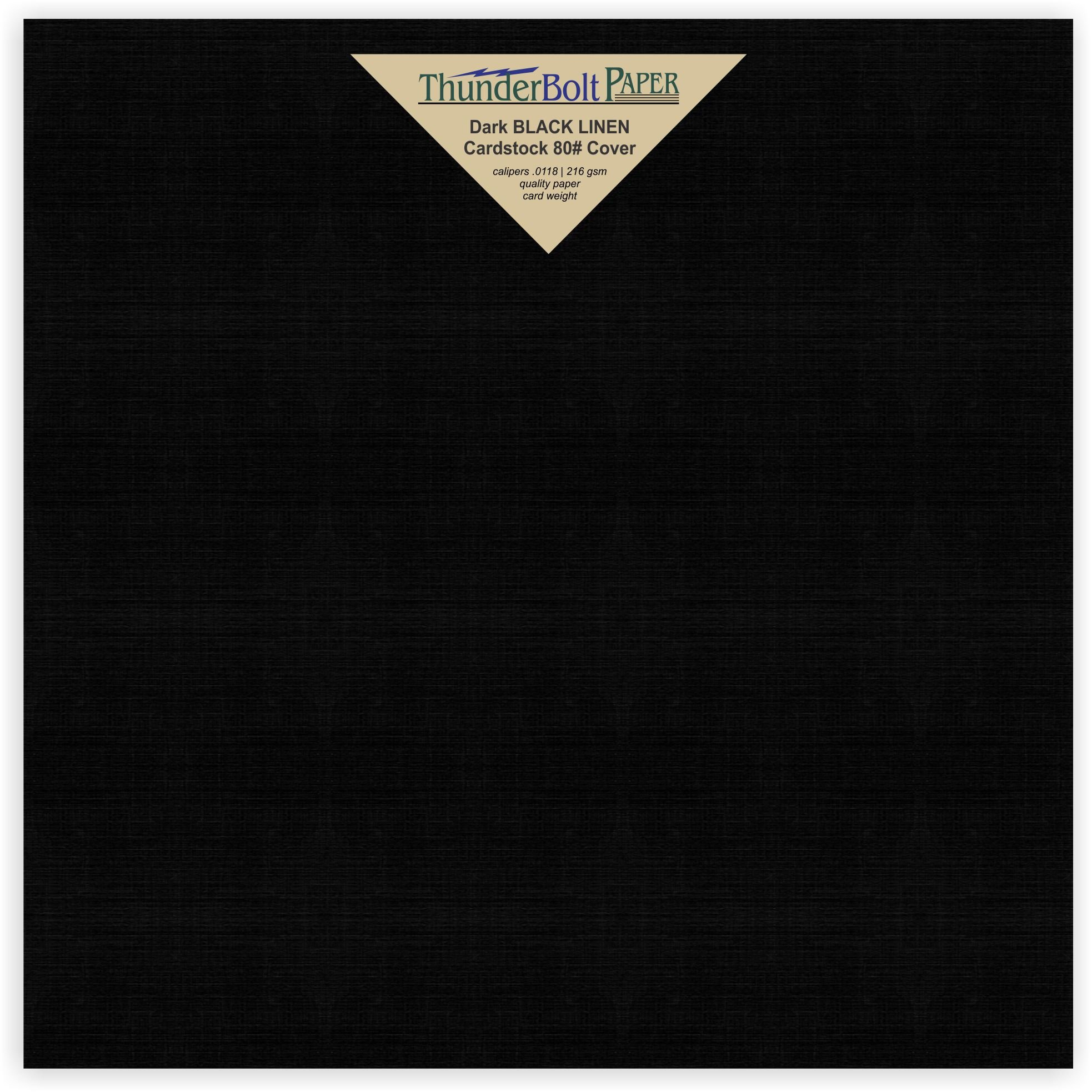 100 Black Linen 80# Cover Paper Sheets -9'' X 9'' (9X9 Inches) Scrapbook Album Cover Square Size- Card Weight - Deep Dye, Fine Linen Textured Finish - Quality Cardstock